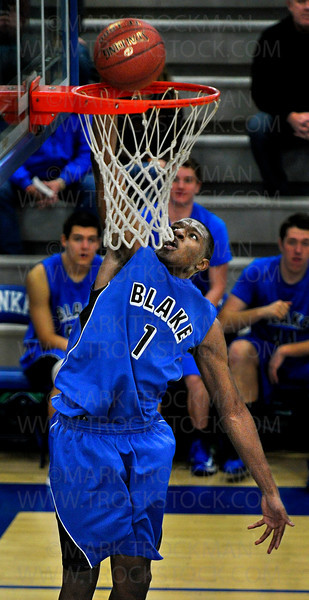 Bears senior guard Kebu Johnson lays up two of his 24 points against Lakeview Christian Academy Saturday, Dec. 8, at Minnetonka High School.  Blake beat the Lions 100-85 at the annual Breakdown Tip-Off Classic.
