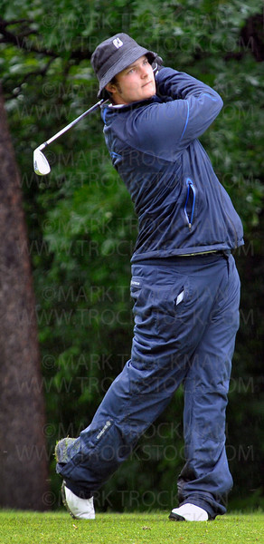 Wayzata senior Tyler Lowenstein tees off at Bunker Hills Golf Course Wednesday, June 15, in Coon Rapids.  Lowenstein tied for 3rd place at the State Class 3A Boys' Golf Tournament with a two day combined score of 146.  The Wayzata Boys team tied Rogers for 1st place in the team competition with a total score of 592.