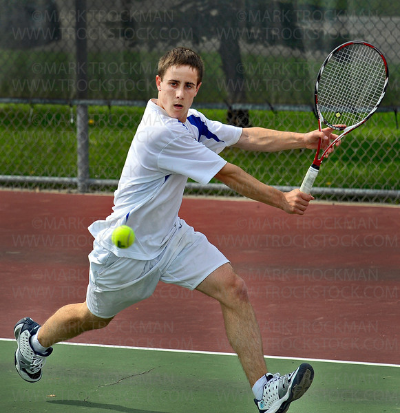 The Spartans No. 2 singles player, senior Scott Vezzosi, beat his Hopkins counterpart, Michael Fields, 7-5, 7-5, in the Section 6-2A final Wednesday, May 25, at Hopkins High School.