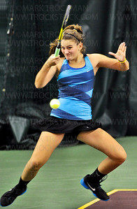 Minnetonka No. 1 doubles players Theresa Tebon and Sydney Baldwin trounced their girls' state tournament quarterfinal opponents from Stillwater 6-2, 6-0, Tuesday, Oct. 23, at Baseline Tennis Center in Minneapolis.