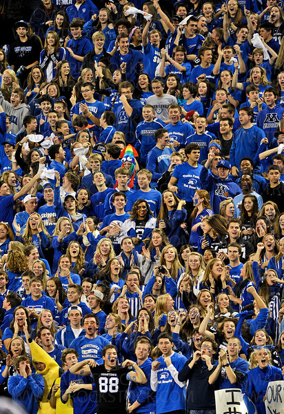 The Minnetonka faithful make the Metrodome rumble while cheering for their boys on the field Friday, Nov. 9, at the Metrodome in Minneapolis.  The Skippers lost their state quarterfinal game to Eden Prairie 21-18.