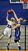 Skippers junior center Olivia Baker, right, blocks Eastview guard Kari Opatz from scoring in the first half of Minnetonka's non-conference, 72-66 loss to the Lightning at Minnetonka High School Thursday, Nov. 29, 2012.