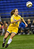 Wayzata freshman forward Ruby Stauber plays for control of the ball during the Trojans 2-0 class 4A state championship win against White Bear Lake Thursday, Nov. 1, at the Metrodome in Minneapolis.