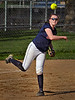 Spartan third baseman Jessica Flakne throws to first to make the third out in the 5th inning Wednesday, May 11, against Chaska.  The Spartans beat the Hawks 4-3 at Orono High School.