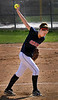 Orono pitcher Amanda Peterson winds up in the 3rd inning Wednesday, May 11, in the Spartans 4-3 defeat of Chaska at Orono High School.