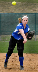 Royals shortstop Kim Lidstone throws to first for the first out of the third inning against Wayzata Thursday, April 28 at Hopkins High School.  Hopkins beat Lake Conference Rival Wayzata 5-4.