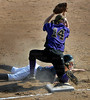 Orono catcher Shelby Early is called out after sliding into third base to end the Spartan's 3rd inning against Chaska Wednesday, May 11, at Orono High School.  The Spartans beat the Hawks 4-3 in non-conference play.