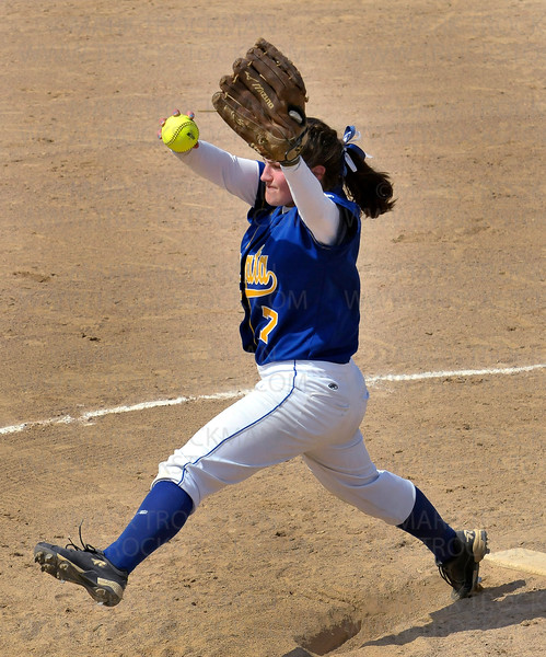 Wayzata pitcher Jessica Williams threw 11 strikeouts during her teams' valiant effort against the Royals Thursday, June 2, at Richfield Middle School.  The Trojans lost the Section 6-3A Fastpitch Tournament to Lake Conference rival Hopkins 9-2.