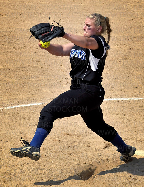 Royals pitcher Morgan Nybo winds up before hurling the ball at a Wayzata batter in the 6th inning of Hopkins 9-2 Section 6-3A Fastpitch win Thursday, June 2, at Richfield Middle School.