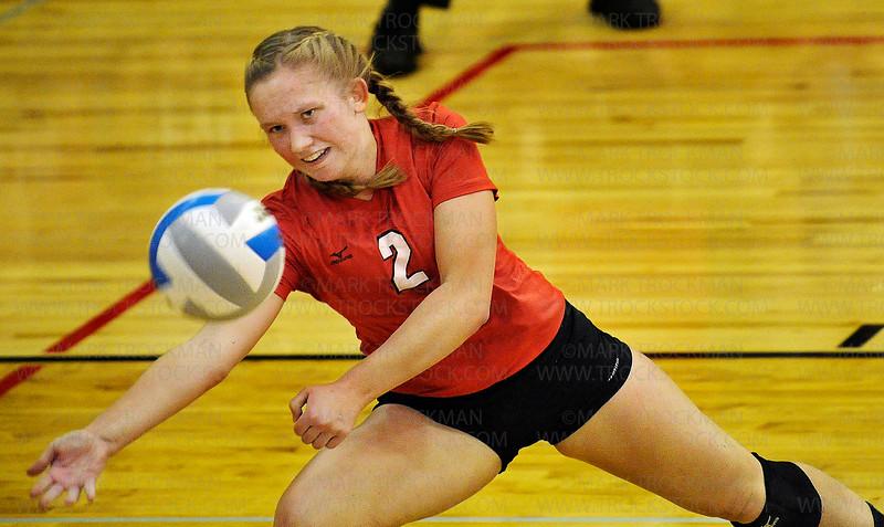 EP senior DS Lauren Mattison (2) in action against Minnetonka Tuesday, Oct. 28, at BSM.