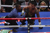 Mosley is slow to get up after a third-round knockdown by Pacquiao.  Pacquiao00425