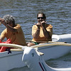 Orange Anuenue ladies paddle in after a World Sprints heat.