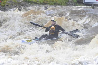 A photo of me going through 'Extracts Weir'by Karen Castle of 'Aussies in Action'. A great source of action photos for the Avon Descent. My only year paddling a ski. After this year, I promised myself I will always paddle a kayak.