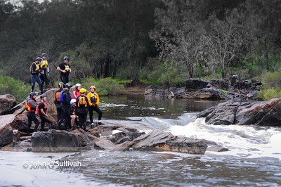 First flow for the Avon River for 2012 winter. These shots were taken at Walyunga National Park, WA. Most are of the team At Canoeing Down UNder taking some new paddlers through their competency assessments before they enter the Avon Descent  16 June 2012