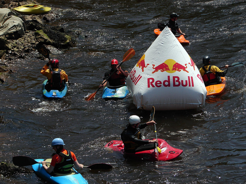 Redbull pulled out all the stops. Tent/music/girls/drinks/girls/floaty things/girls....