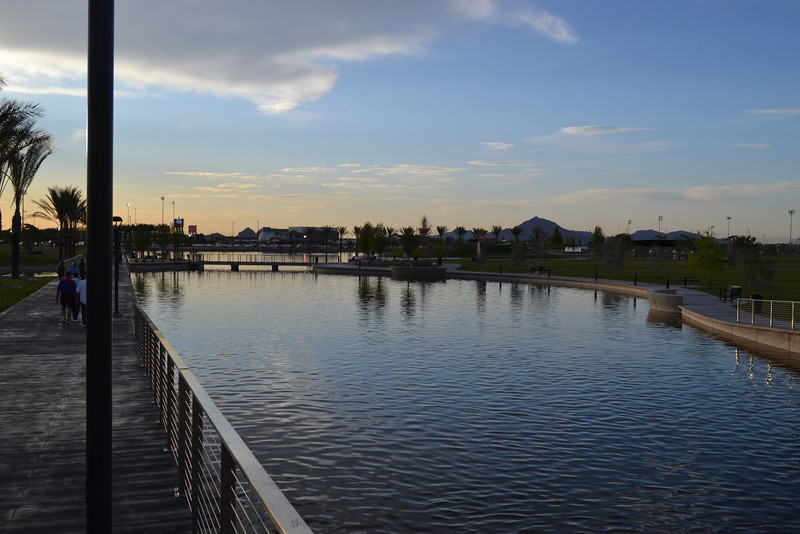Riverview Park at sunset