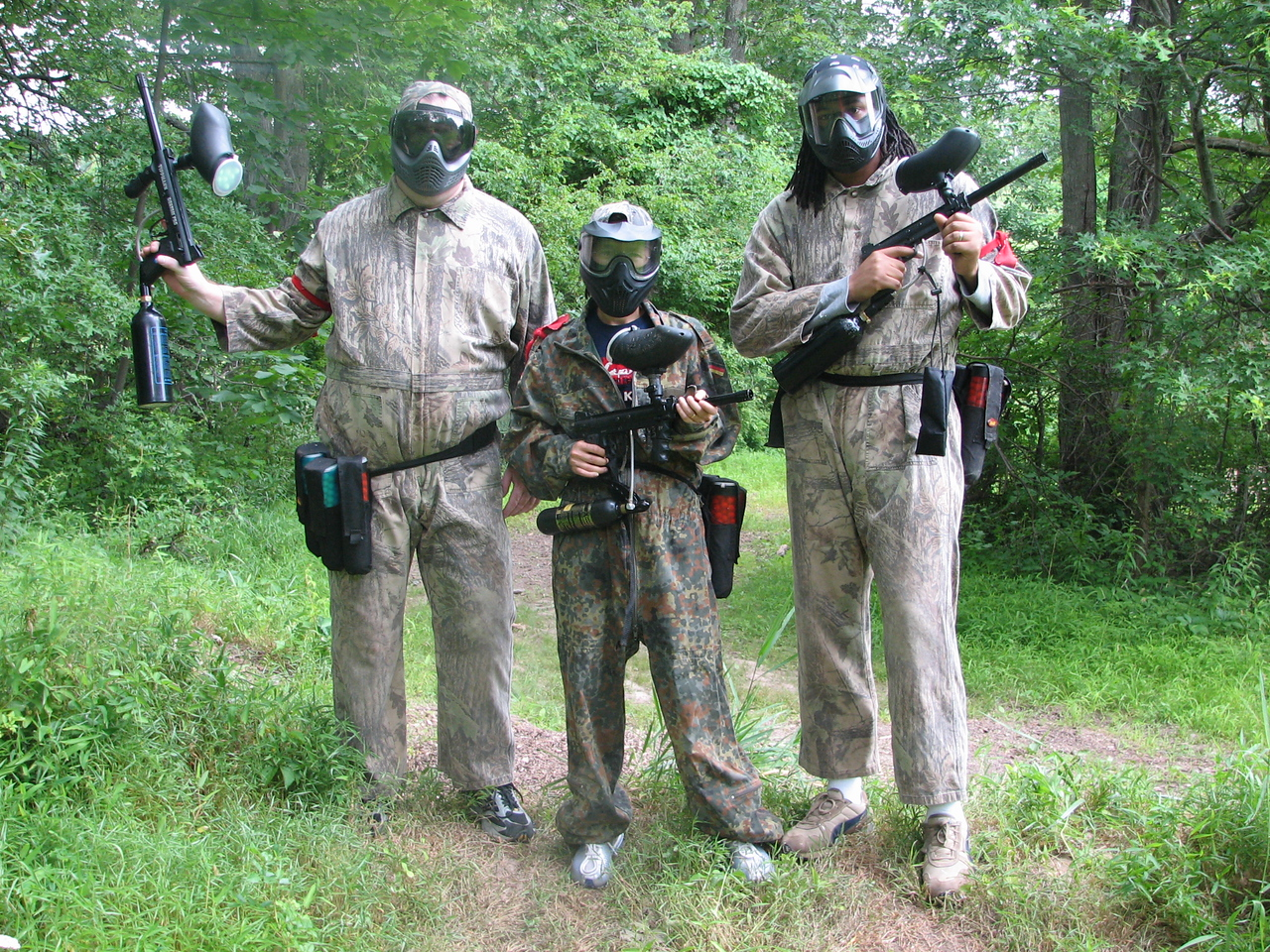 The original members of the red team L-R: Pat, Kelly and Delano