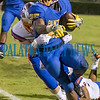Palatka senior Ke'shawn Hughes (25) breaks a run for extra yardage in the second quarter of their game against Bolles. Fran Ruchalski/Palatka Daily News