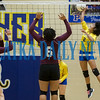 Palatka senior Kavasia McCormick (2) slams a shot in the match with Crescent City. Fran Ruchalski/Palatka Daily News