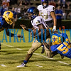 Panthers David Williams (34) and Tyree Johns combine for a stop of the Menendez runner in the second half of their game on Friday night. Fran Ruchalski/Palatka Daily News
