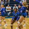 Interlachen's Kirby Mason (2) slams the ball back over the net in the fourth set of their match against Palatka. Fran Ruchalski/Palatka Daily News