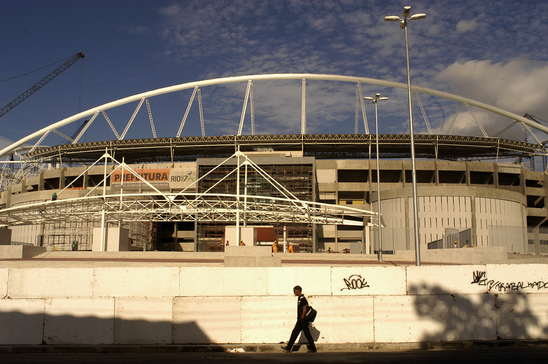 A view of the Joao Havelange Olympic Stadium, being built for the Pan-Am Games in July 2007. (AustralFoto/Douglas Engle)