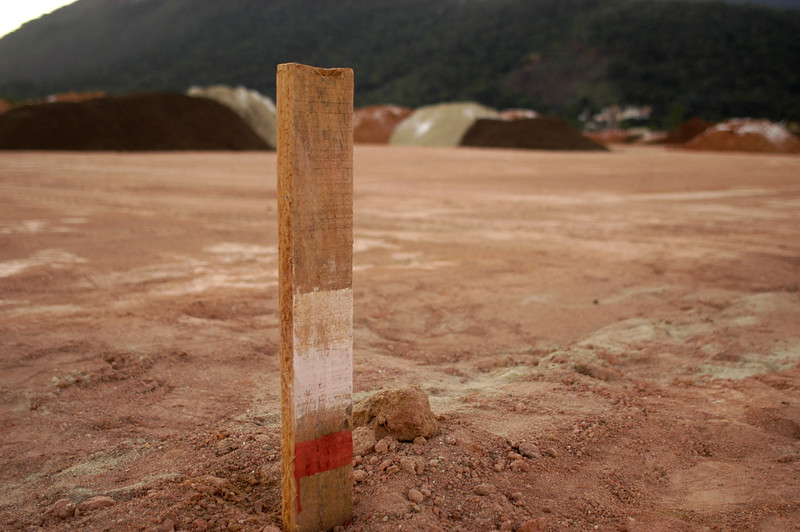 A view of the construction site at the 250,000 sq. metersarea is known as Cidade do Rock (Rock City), where two major international music festivals were held In 1985 and 2001 in Rio de Janeiro, Brazil. the area will hold temporary facilities for baseball (stadium and training field), and softball (stadium) competitions for the Pan-Am games in  July 2007.(AustralFoto/Douglas Engle)