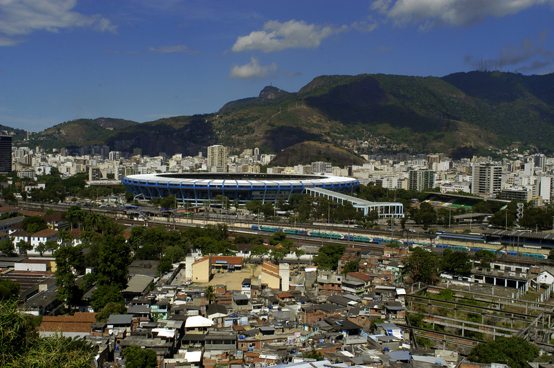 A view of the Maracana stadium, site of the opening ceremony of the Pan-Am Games in July 2007. Soccer will also be played in the stadium, built for the 1950 World Cup and updated this year, 2007. (AustralFoto/Douglas Engle)