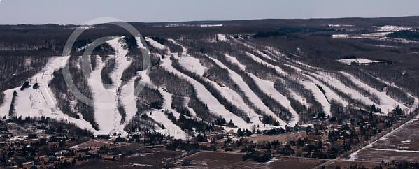 Aerial Panorma of Osler Ski Club