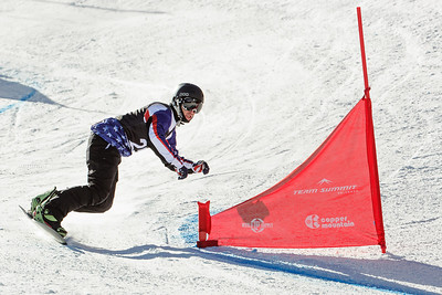 Michael Shea finished second in today's snowboard cross at the 2014 IPC Adaptive Alpine & Snowboard World Cup at Copper Mountain, Colorado