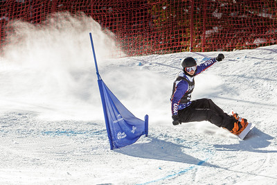 Evan Strong wins the gold in today's snowboard cross at the 2014 IPC Adaptive Alpine & Snowboard World Cup at Copper Mountain, Colorado