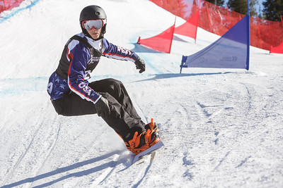 Evan Strong finished second in today's snowboard cross in the 2014 IPC Adaptive Alpine & Snowboard World Cup at Copper Mountain, Colorado