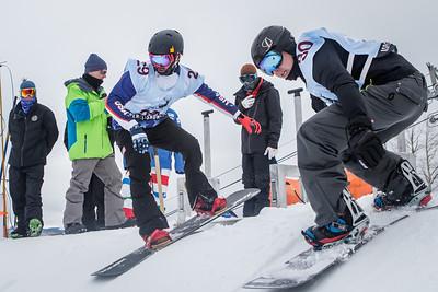 Mike Shea goes head to head with Matti Suur-Hamari in the 2015 IPC Para-Snowboard World Cup in Aspen