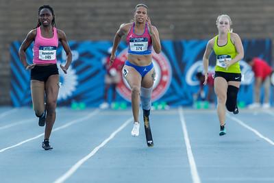 Womens 100m T43/44