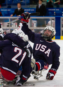 US Sled Hockey team defeats Japan for the gold in the 2010 Vancouver Paralympic Games