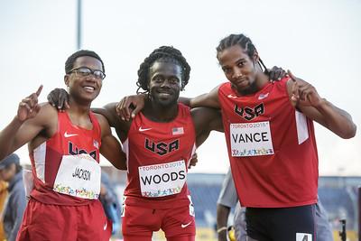Shaquille Vance, Regas Woods, & Desmond Jackson medal sweep