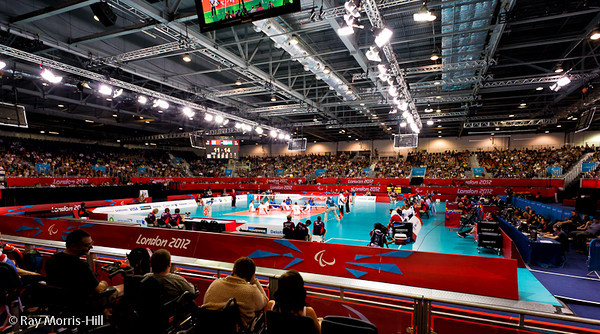 Sitting Volleyball at Excel, 7 September 2012.  Rwanda won 3-1 against Morocco in the 9-10 Classification match. It was the first ever victory by a sub-Saharan African team.
