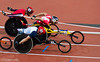 David Weir powers past the opposition to win the 5000m T54