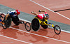 David Weir of Great Britain on his way to winning the 5000m T54