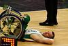Michael Harnett of Australia takes a break