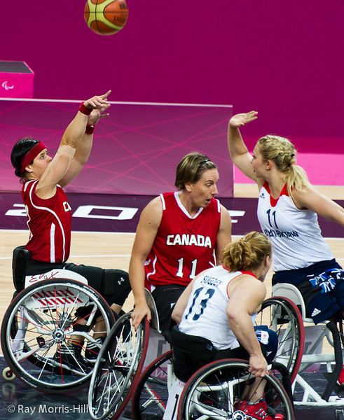 Action from the Great Britain vs Canada game