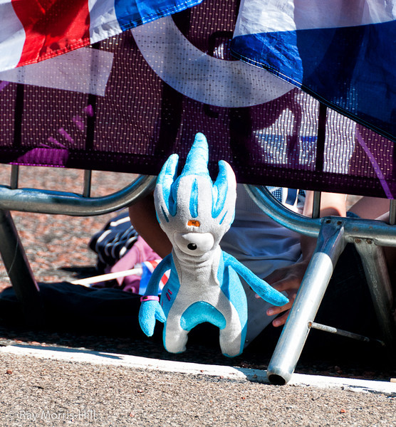 Mandeville waits for the wheelchair racers on Birdcage Walk