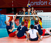 Sitting Volleyball at Excel, 7 September 2012.  GB lost 3-0 to China in the 7-8 Classification match.