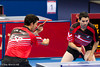 Table Tennis at Excel, 7 September 2012. Poland on their way to defeating Spain in their Men's Team Class 9-10 semi-final. Jose Manuel Ruiz Reyes serving.