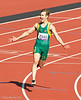 Athletics action in the Olympic Stadium, 8 September, 2012.  Evan O'Hanlon of Australia celebrates his Gold medal in the Men's 200m T38 final.