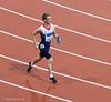 Graeme Ballard celebrates his Silver medal in the 100m T36 event.