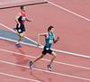 Jorge Gonzalez Sauceda (Mexico) leads Rza Osmanov (Azerbaijan) in the 400m T12 Heat