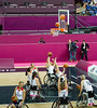 Team GB soon rack up the points in the multi ball variant of wheelchair basketball