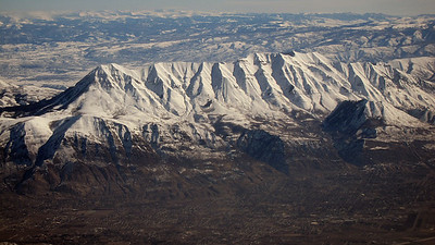 Wasatch mountains east / south of Salt Lake City - peaks of up to 11,000 ft!
