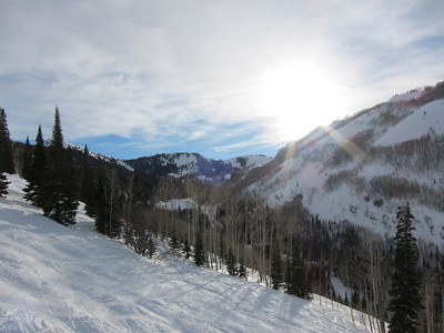 Day 1 at Park City was beautiful - no wind, lots of sun, fantastic snow